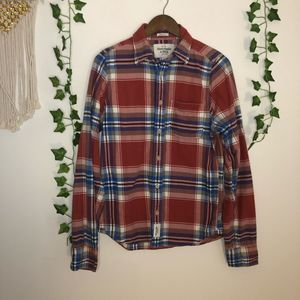 Abercrombie & Fitch Plaid Muscle Button Down